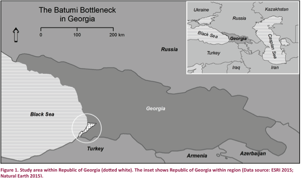 Map Of Republic Of Georgia.View Of Mapping The Conflict Of Raptor Conservation And Recreational